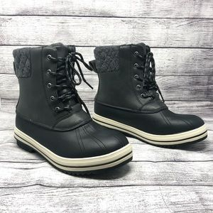 Sociology Womens Duck Boots Black Lined 10 New